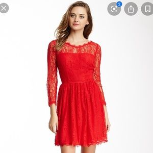 Juicy Couture Delicate Red Lace Dress